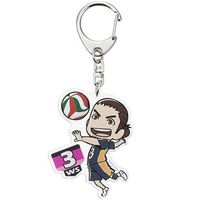 Trading Acrylic Key Chain - Haikyuu!! / Karasuno High School & Asahi