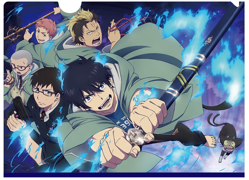 Plastic Folder - Blue Exorcist