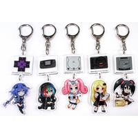 Acrylic Key Chain - Chou Jigen Game Neptune / Neptune (Purple Heart) & Sega Saturn