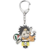 Trading Acrylic Key Chain - Haikyuu!! / Karasuno High School & Nishinoya