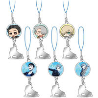 (Full Set) Metal Charm - Yuri!!! on Ice / Katsuki Yuuri & Victor & Yuri Plisetsky