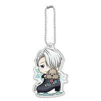 Acrylic Key Chain - Yuri!!! on Ice / Victor & Makkachin
