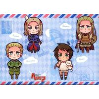 Plastic Folder - Hetalia / Germany & France & Greece (Heracles)