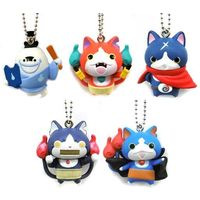 (Full Set) Key Chain - Youkai Watch / Jibanyan & Robonyan & Fuyunyan & Whisper