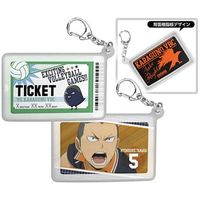Illustrarion card - Commuter pass case - Haikyuu!! / Karasuno High School & Hinata & Tanaka