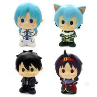 (Full Set) Trading Figure - Sword Art Online / Asuna & Yuuki & Kirito & Shinon