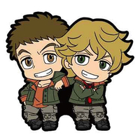 Rubber Key Chain - IRON-BLOODED ORPHANS / Eugene Seven Stark & Norba Shino