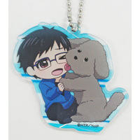 Acrylic Key Chain - Yuri!!! on Ice / Makkachin & Yuuri