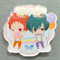 Acrylic Badge - High Speed! / Kirishima Ikuya & Shiina Asahi