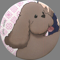 Trading Badge - Yuri!!! on Ice / Makkachin