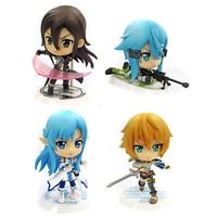 (Full Set) Figure (Kyun-Chara) - Sword Art Online / Asuna & Kirito & Shinon