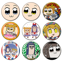 (Full Set) Trading Badge - Poputepipikku (Pop Team Epic) / Pipimi & Popuko