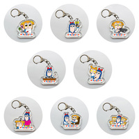 (Full Set) Trading Acrylic Key Chain - Poputepipikku (Pop Team Epic) / Pipimi & Popuko