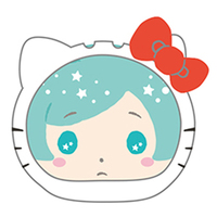 Goods Supplies - Omanjuu Niginigi Mascot Kigurumi Case - Hello Kitty / Ryuseitai & Shinkai Kanata
