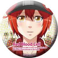 Badge - Hataraku Saibou (Cells at Work!) / Red Blood Cell (AE3803)