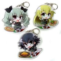 Acrylic Key Chain - GIRLS-und-PANZER / Carpaccio & Anchovy