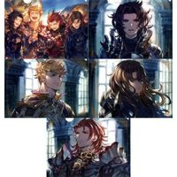 (Full Set) Plastic Folder - GRANBLUE FANTASY / Lancelot & Vane & Percival & Siegfried