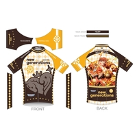 Cycling Jersey - IM@S: Cinderella Girls / new generations & Honda Mio Size-S