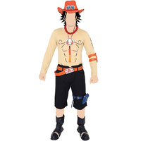 T-shirts - Paper Craft - Necklace - ONE PIECE / Luffy & Ace & Whitebeard Pirates & Sabo Size-M
