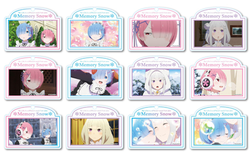 (Full Set) Trading Acrylic Key Chain - Re:ZERO / Emilia & Rem & Ram