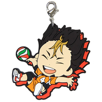 Rubber Charm - Kyun-Chara Illustrations - Haikyuu!! / Nishinoya & Karasuno High School