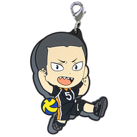 Rubber Charm - Kyun-Chara Illustrations - Haikyuu!! / Tanaka & Karasuno High School