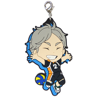 Rubber Charm - Kyun-Chara Illustrations - Haikyuu!! / Sugawara & Karasuno High School