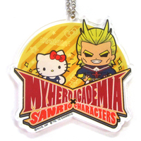 Trading Acrylic Key Chain - Sanrio / All Might