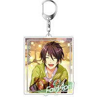 Big Key Chain - Band Yarouze! (Banyaro!) / Fairy April & Ootori Asahi
