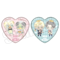 Heart Badge - Hello Kitty / Akutsu Mabu & Niiboshi Reo