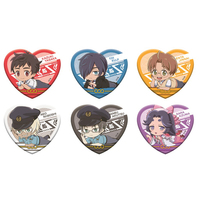 (Full Set) Acrylic Badge - Heart Badge - Sarazanmai