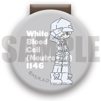 Glass marker - Cable Clip - Hataraku Saibou (Cells at Work!) / White Blood Cell
