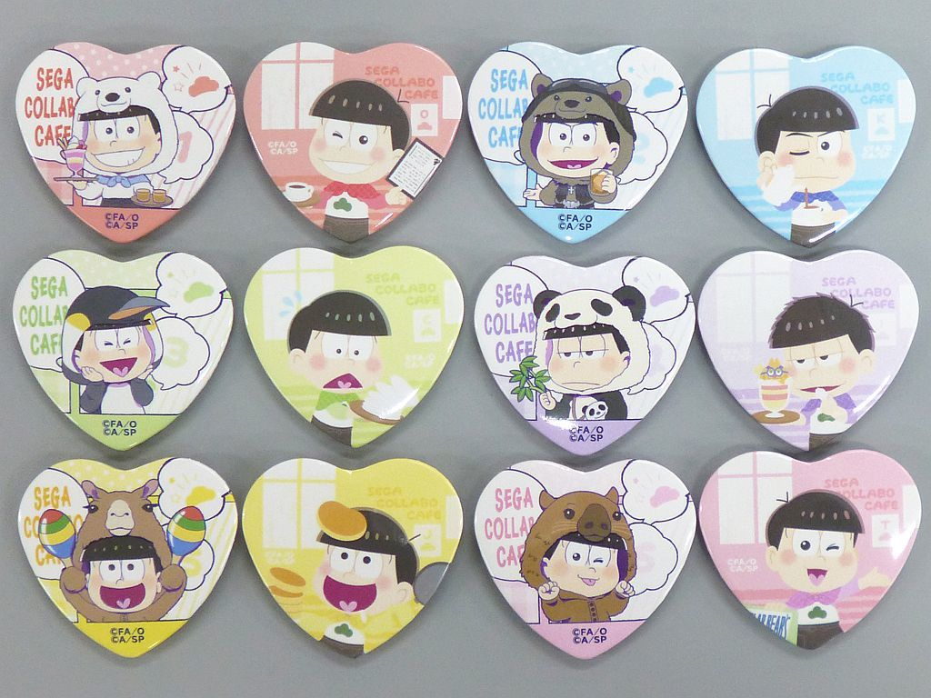 (Full Set) Heart Badge - Osomatsu-san