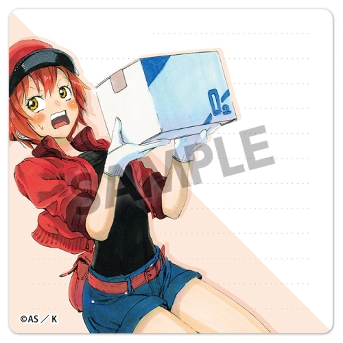 Sticky Note - Hataraku Saibou (Cells at Work!) / Red Blood Cell (AE3803)