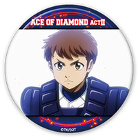 Trading Badge - Ace of Diamond / Yui Kaoru