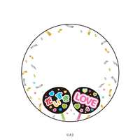 Goods Supplies - Badge Cover - Paper fan (57mm缶デコカバー90/推しうちわ)