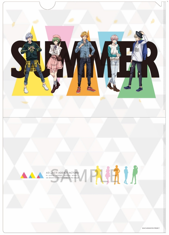 Plastic Folder - A3! / Summer Troupe & Spring Troupe