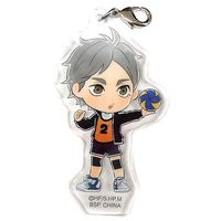 Kyun-Chara Illustrations - Acrylic Charm - Haikyuu!! / Karasuno High School & Sugawara