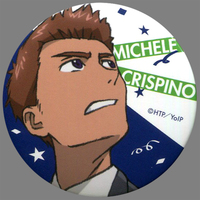 Trading Badge - Yuri!!! on Ice / Yuuri & Michele Crispino