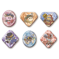 (Full Set) Badge - Kirby's Dream Land / Meta Knight & King Dedede & Magolor & Waddle Dee