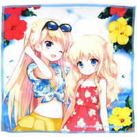 Multi Cloth - Kiniro Mosaic / Alice Cartelet & Kujou Karen