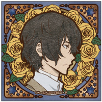 Square Badge - Bungou Stray Dogs / Dazai Osamu