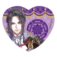Acrylic Badge - Heart Badge - Sengoku Night Blood / Oda Nobunaga