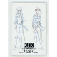 Original Drawing (Replica Illustration) - Square Badge - K / Saruhiko & Seri