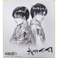 Illustration Panel - Shingeki no Kyojin / Levi & Eren