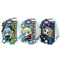 (Full Set) Commuter pass case - UFO Tsumamare - GIRLS-und-PANZER / Darjeeling & Kay & Anchovy