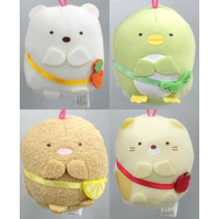 (Full Set) Plush Key Chain - Sumikko Gurashi / Shirokuma & Penguin? & Tonkatsu (Capucine) & Neko (Gattinosh)