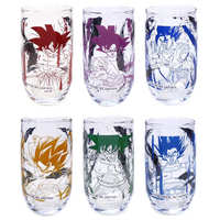 (Full Set) Tumbler, Glass - Dragon Ball / Goku & Bardock & Gogeta & Vegito