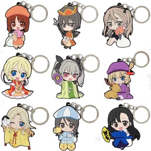(Full Set) Rubber Key Chain - GIRLS-und-PANZER