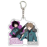 Acrylic Key Chain - WORLD TRIGGER / Amatori Chika & Hus